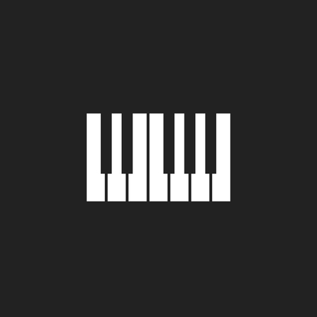 Piano keyboard icon logo.Music design template.