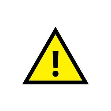 Yellow triangle caution warning alert sign vector illustration