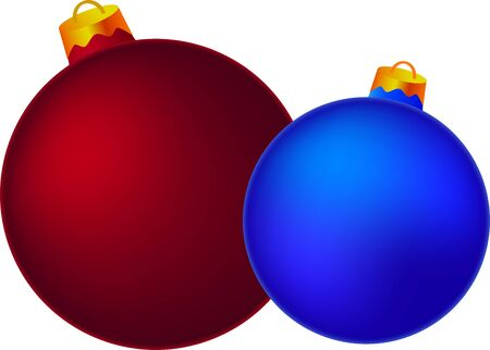 Red and blue balls Stock Vector - 16843085