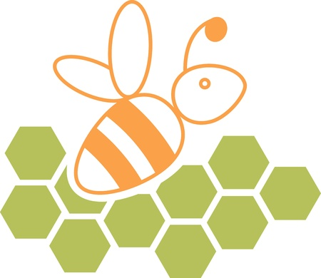 work popular: Bee and honeycomb
