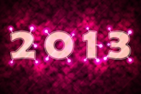 effervescence: Text 2013 with sparkles Stock Photo