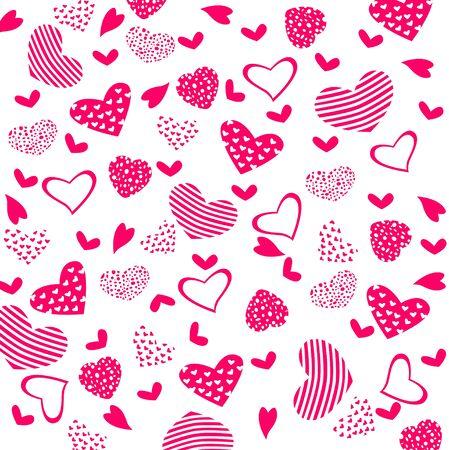 dekor: Texture with hearts