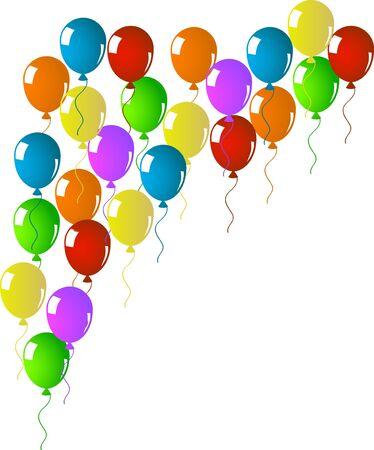 Corourful flying balloons Stock Vector - 17299096