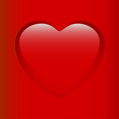 Red Glossy Heart Stock Vector - 17336635