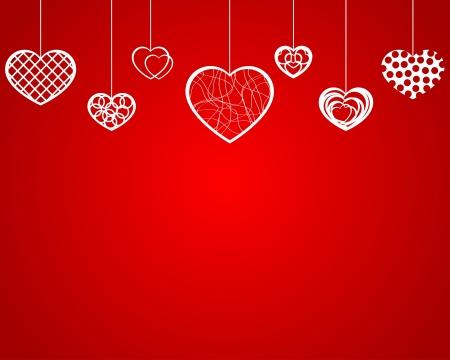 Empty hanging hearts Stock Vector - 17380052