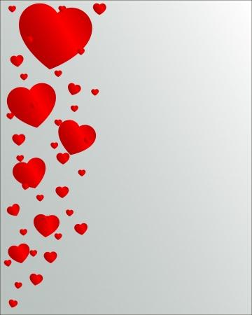 Valentine Day hearts flying up Illustration
