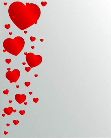 Valentine Day hearts flying up Stock Vector - 17380054