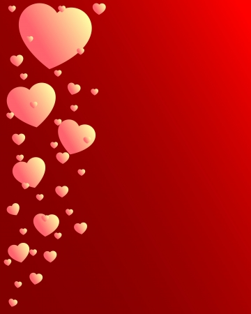 Valentine Day light hearts flying up Stock Vector - 17380055