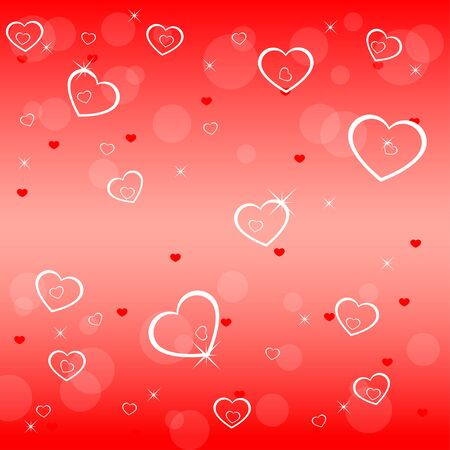 Valentines backgroun with empty hearts Vector