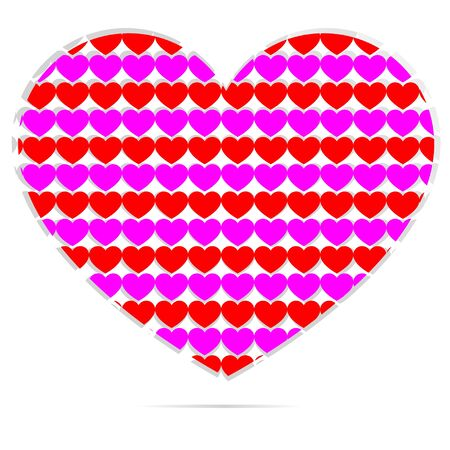 Shape of herts with many hearts inside Stock Vector - 17433222