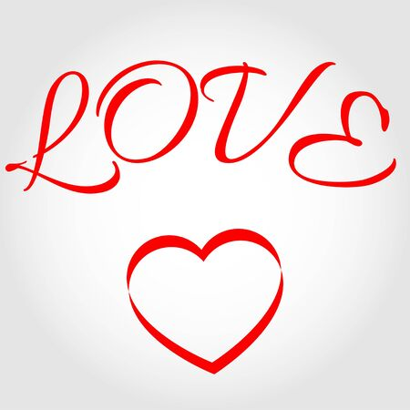 Word Love witth heart Stock Vector - 17433216