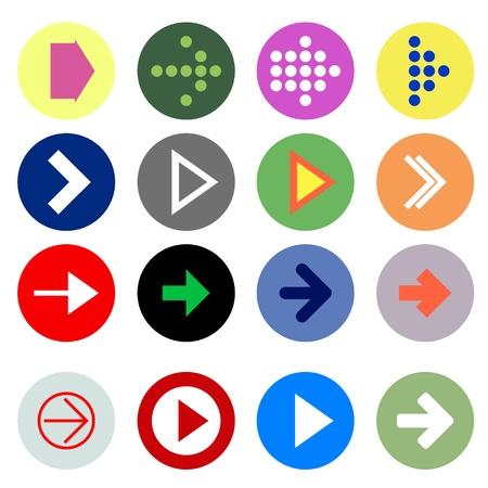 score under: Arrow sign icons