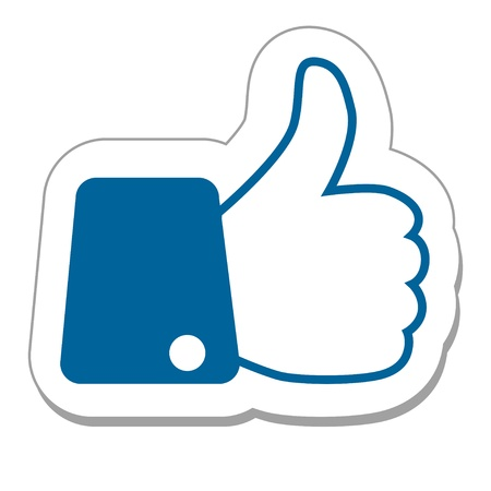 Like button with finger up Illustration