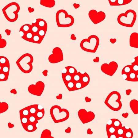 Seamless with hearts Stock Vector - 17589301