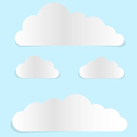 Cloud-shaped paper banners Stock Vector - 17589303