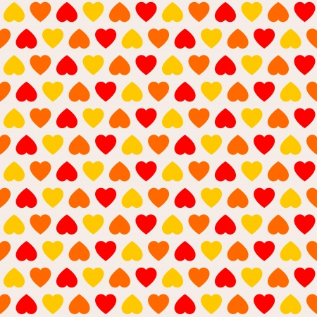 Texture with three colored hearts Illustration