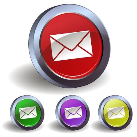 E-mail button icon Vector