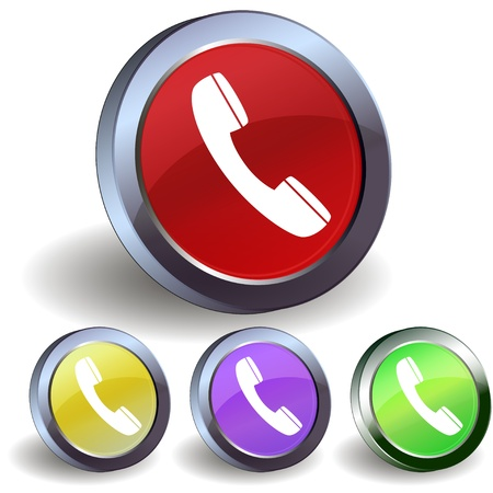 Internet phone button icon Vector
