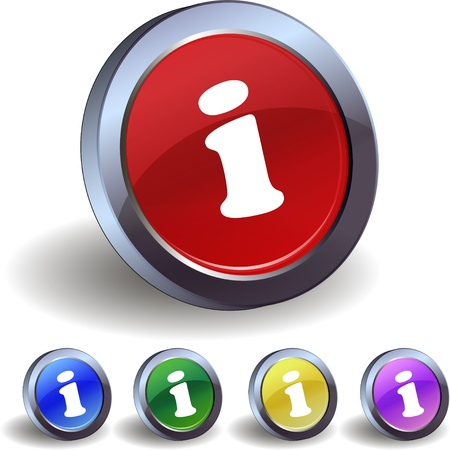Info buttons icon Stock Vector - 17589313