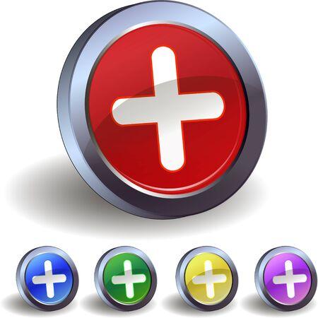plus icon: Plus icon buttons