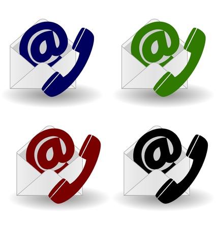Contact us icon Vettoriali