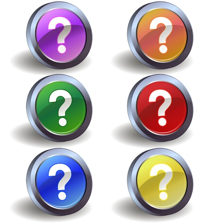 questioning: Question icons Illustration