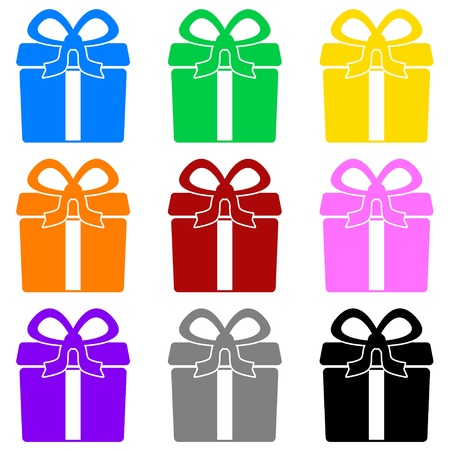 Colorful gift box symbols Stock Vector - 18257297