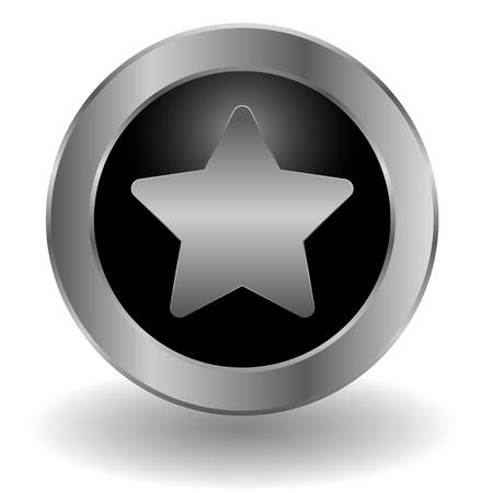 Metallic bookmark button Stock Vector - 19478750