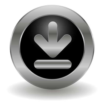 Metallic download button Vector