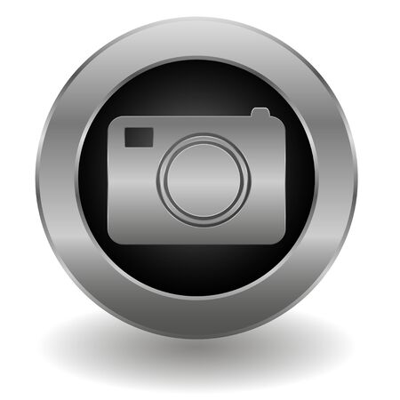 Metallic camera button Stock Vector - 19626744