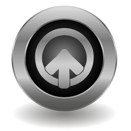 login button: Metallic login button