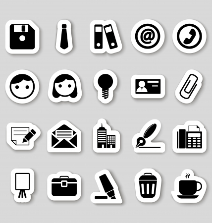Office icons on stikers