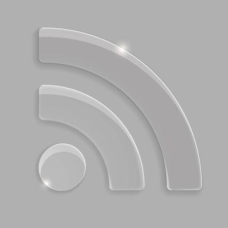 syndication: Glass icono de la alimentaci�n Vectores