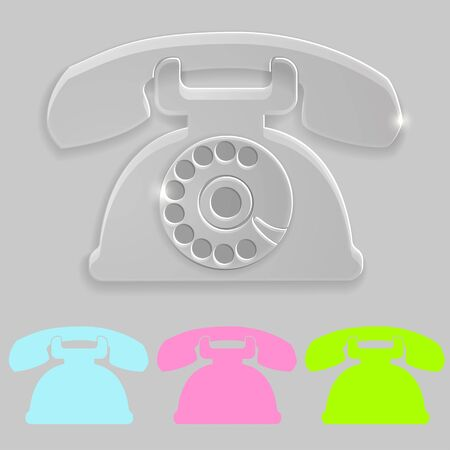 Old phone transparent icon Stock Vector - 19989114