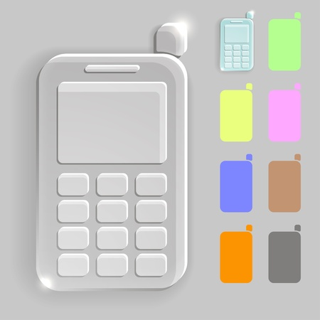 Mobile phone transparent icon Stock Vector - 19989534