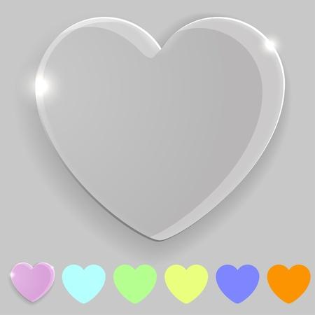 Heart shape transparent icon