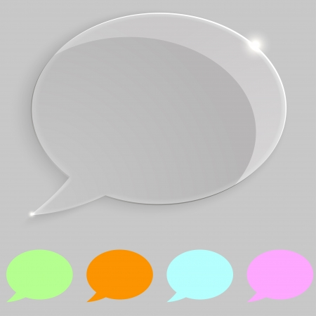 Transparent speech icon