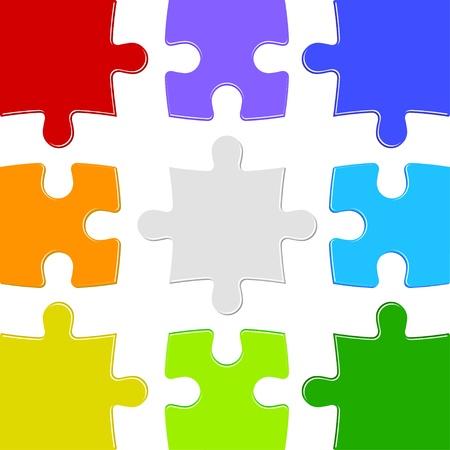 9 색상 퍼즐 일러스트