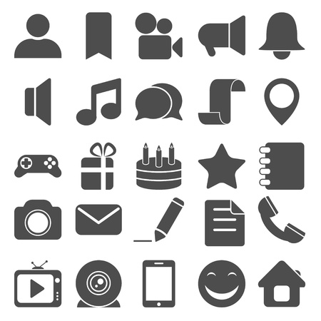 Social and media icons photo