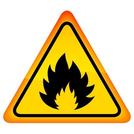 inflammable: fire warning sign