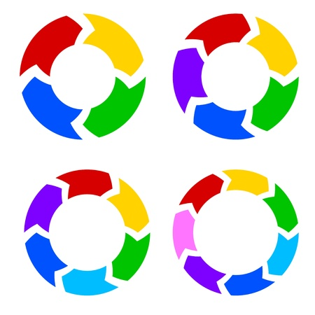 Color circle arrows set