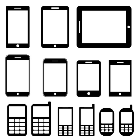 Mobile phones and tablets set Stock Photo - 20782865