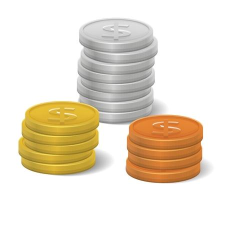 symboll: Coins Icon Illustration