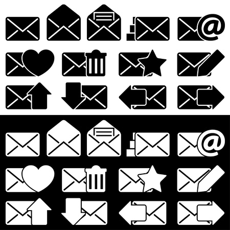 Envelopes for Email Set Stock Vector - 21954330