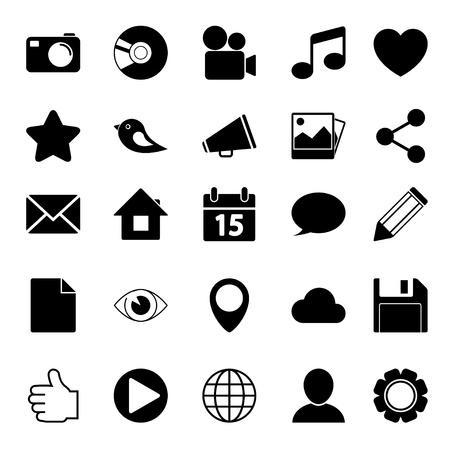 Media Social Icons Vector