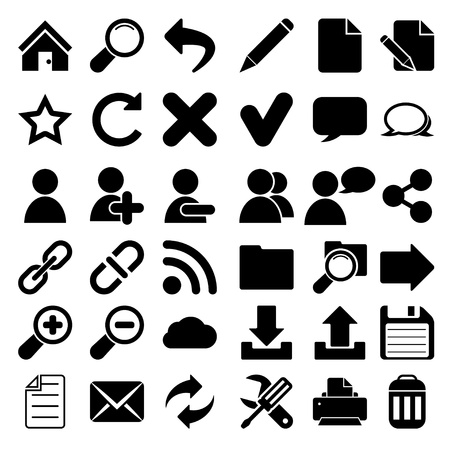 Web Internet Icons Ilustrace