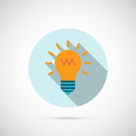 Lightbulb Icon. Editable EPS and Render in JPG format Illustration