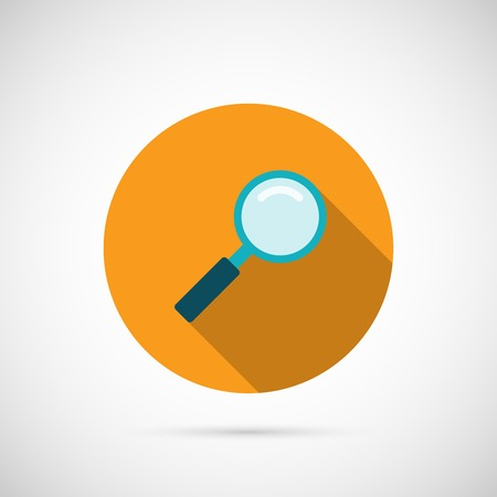 Magnifier Icon. Editable EPS and Render in JPG format