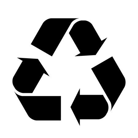 reciclar: S�mbolo de reciclaje. Vectores