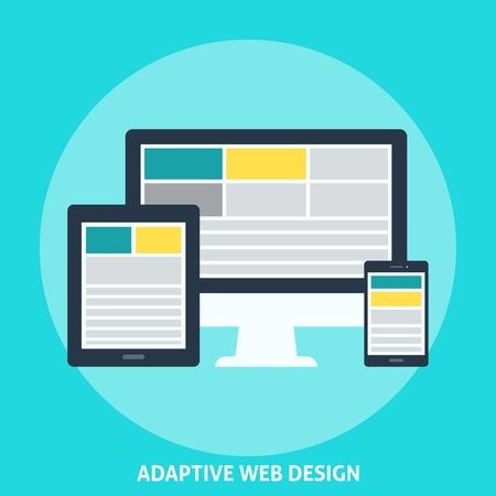 adaptive: Adaptive Web Design. Illustration